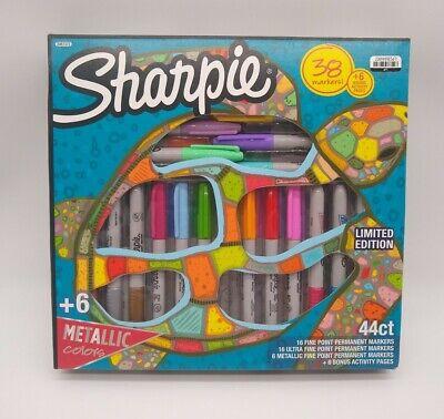 Sharpie Permanent Marker Set With 6 Bonus Activity Pages 44 Piece Set New