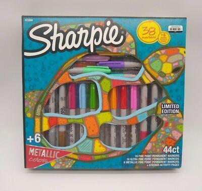Sharpie Permanent Marker Set With 6 Bonus Activity Pages 38 Count