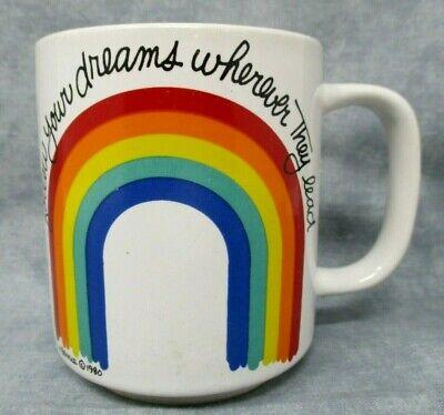 Berry Coffee - Vintage Rainbow Coffee Cup Mug Follow Your Dreams 1980 Berrie