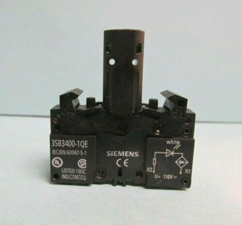 Siemens White Signal Lamp 110V 50Hz Catalog # 3SB3400-1QE  *NEW*