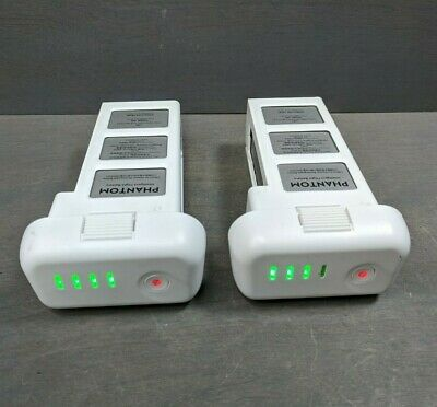 2 OEM Genuine DJI Phantom 3 Intelligent Flight Battery - 17 & 40 CHARGES