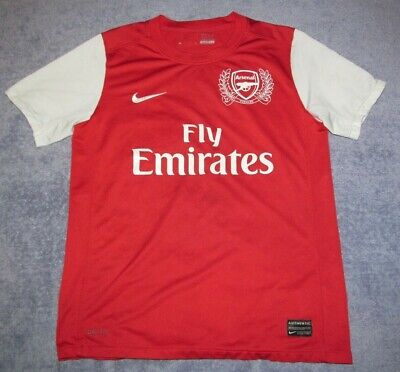 - Arsenal Kids 2011 Home Red Nike Jersey Boys L Youth 2012 Rare