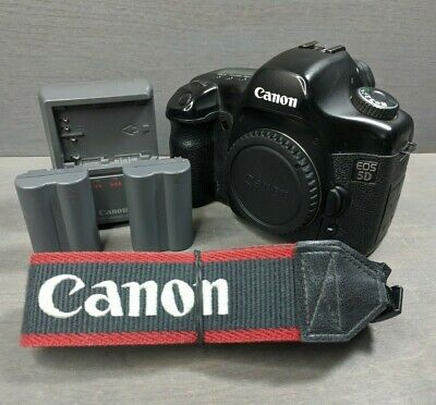 Canon 5D Mark I Classic Full Frame DSLR Camera Body + Batteries & Charger