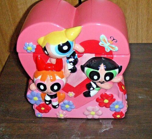 Power Puff Powerpuff Girls Heart Cookie Jar Cartoon Network Warner Brothers PPGA