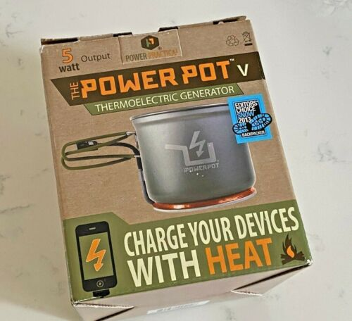 NEW PowerPot V Thermoelectric Generator - Charge Your Device with Heat (5 Watt)