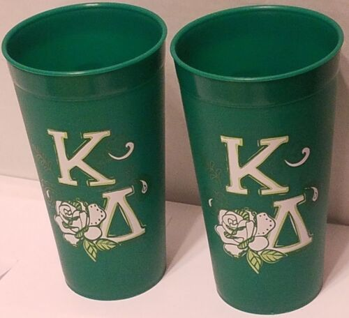 KAPPA DELTA Alexandra and Company 2-SIDED Thick Plastic Cup - 2-PACK