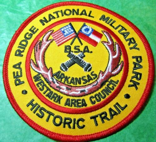 PEA RIDGE NATIONAL MILITARY PARK HISTORIC TRAIL B.S.A. EMBROIDERED PATCH (439)