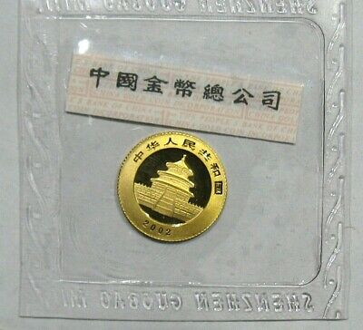 2002 1/20oz Ounce Gold China G20Y Panda 20 Yuan Coin