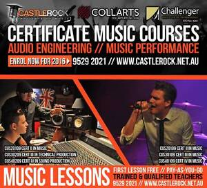 Certificate College Courses Audio Engineering & Music Performance Rockingham Rockingham Area Preview