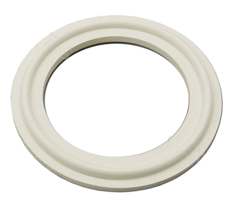 """LOT OF 5 WHITE SILICONE TRI CLAMP SANITARY GASKETS 2""""  TRICLAMP TRI-CLOVER"""