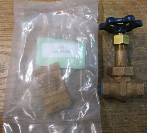 NEW NOS Powell 700375VNX Turn Gate Valve For Oxygen Service 0.50 700375