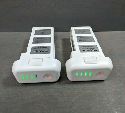 2 OEM Genuine DJI Phantom 3 Intelligent Flight Battery - 14 & 24 CHARGES