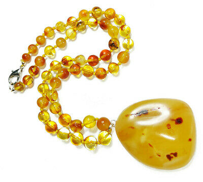 masterpiece lovely gift box NEW Stunning Baltic Golden with inclusions or butterscotch Amber Necklace stunning design