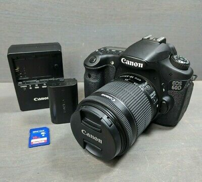 Canon EOS 60D 18.0MP DSLR Camera - Black (w/ EF-S STM 18-55mm Lens) - 11K clicks
