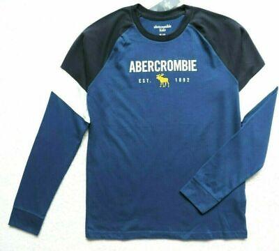 Abercrombie Kids Niños Gráfico Camiseta Logo Azul Talla: