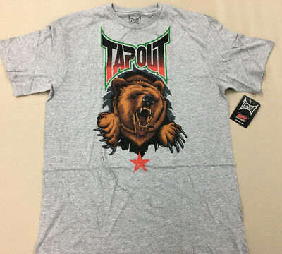 2484ca9cd57e UFC TAPOUT Republic Grey Bear T-Shirt NEW WITH Tags Adult Large
