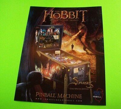 The HOBBIT Smaug Special GOLD Edition Original NOS Pinball Machine Promo Flyer