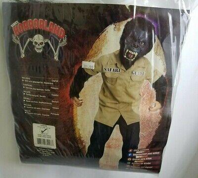 Gorilla Safari Guide Costume Halloween Youth Child Size Large 12-14 Horror Land