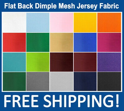 Flat Back Dimple Mesh Jersey Fabric - Many Colors - 60