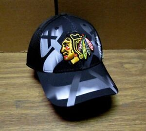 f26398a22dd NEW NHL CHICAGO BLACKHAWKS MEN S EMBROIDERED REEBOK ADJUSTABLE CAP HAT OSFA