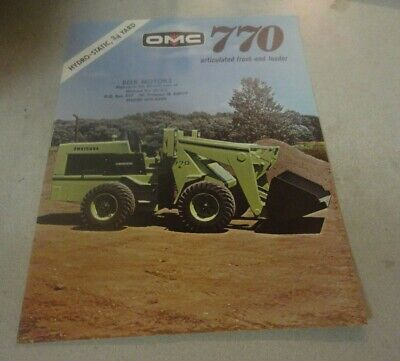 Omc 770 Articulated Front End Loader Hydro-static 34 Yard Brochure