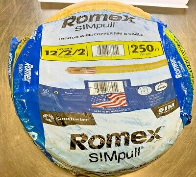 Southwire Romex Simpull Type Nm-b 1222 250 Ft. - New
