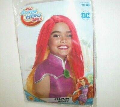 Halloween Wigs Dc (NIP NEW Wig Halloween Costume Stafire DC Super Hero Girls)