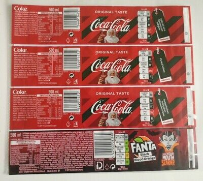 🥤 coca cola lable latvia xmas 0,5 500ml - Coca Cola Halloween