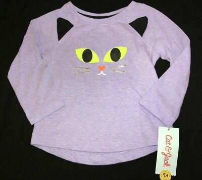 baby girls size 18 month NEW NWT light purple HALLOWEEN SHIRT TOP CAT EARS FACE ](Baby Cat Ears Halloween)