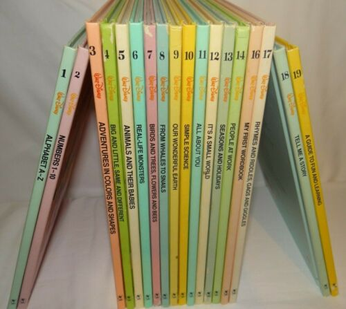 Walt Disney Fun to Learn Library Vols. 1-14 and 16-19 Bantam Books Hardcover