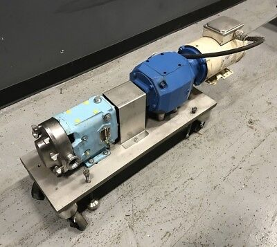 Waukesha 015 Rotary Positive Displacement Pump 1-12hp
