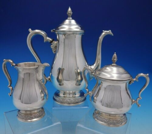 Prelude by International Sterling Silver 3 Piece Coffee Set Vintage (#4427)