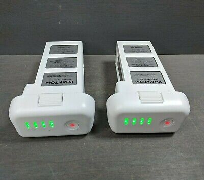 2 OEM Genuine DJI Phantom 3 Intelligent Flight Battery - 11 & 13 CHARGES