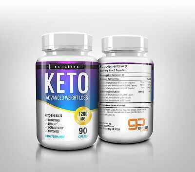 ☀ Best Keto Diet Pills 1200mg Burn Fat- Advanced Ketosis Weight Loss 90