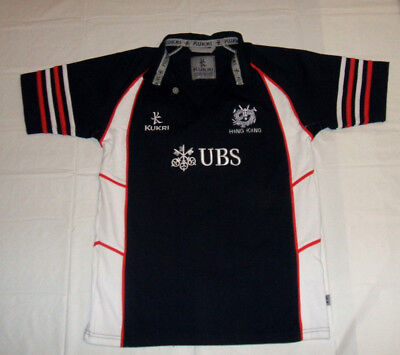 22f78f91 Hong Kong Rugby UBS Embroidered Black Kukri Polo Shirt Youth Ages 13-14