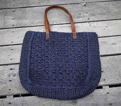 Blau Stroh Handtaschen (Handtasche Stroh Studios Damen Darker Marineblau Shopper Schultertasche)