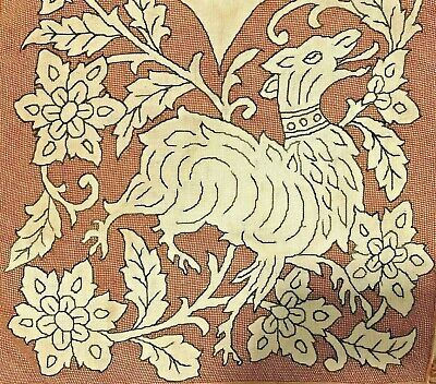 Vintage Greek Ireland silk on cotton long embroidery