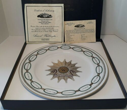 Woodmere White House Collection George Washington Dinner Plate w/COA & Recipe
