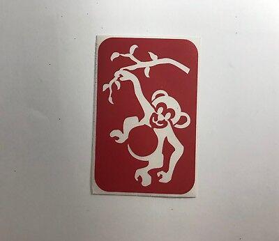 Monkey Glitter Tattoo Stencils - 15 Stencils Pack - Monkey Tattoo