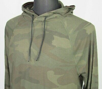 Men's Abercrombie & Fitch Long Sleeved Stretch Camouflage Hoodie T-Shirt Medium