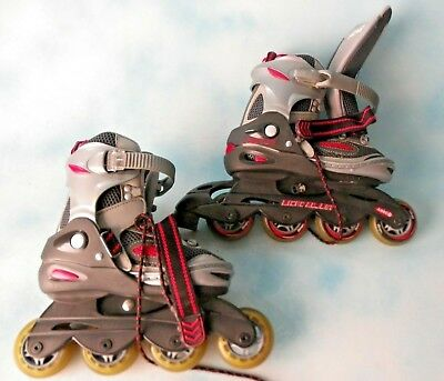 Chicago Inline Skates Roller Blades Micro Adjust Silver Red Size Youth 1-4 EC Micro Adjust In Line Skate