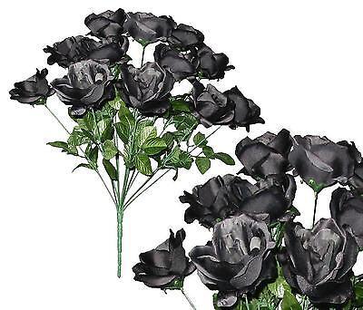 12 Black Open Rose 20
