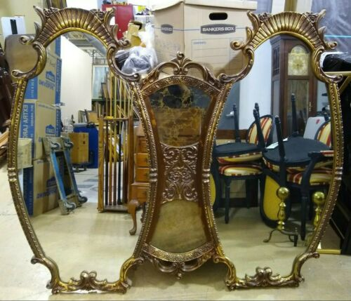 Union City Mirror & Table Co. Large Gold Decorative Wall Mirror