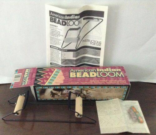 VINTAGE! DARICE INC. AMERICAN INDIAN DELUXE METAL BEADLOOM KIT (ORIGINAL BOX)