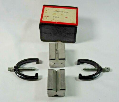 Vintage V Block and Clamp - Set of 2 w/Original Box
