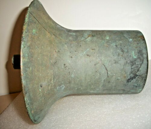 EARLY, HEAVY 11 # 11 OZ. CAST BRASS - BRONZE BELL SHAPED MAINE BOATHOUSE ITEM !