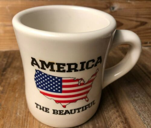 Waffle House 2012 America the Beautiful Coffee Mug Cup Heavy Tuxton, NWOT