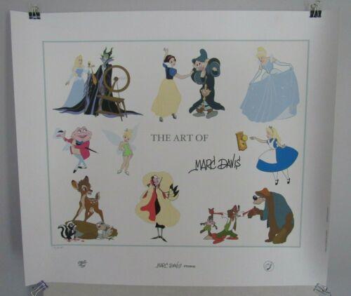 "Disney ""The Art of Marc Davis"" Serigraph Limited #15/250 Signed RARE"