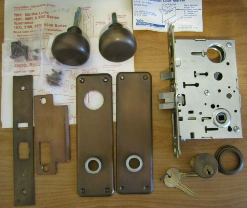 Yale 8700 Series Mortise Lockset / Lock Set, Bronze Color