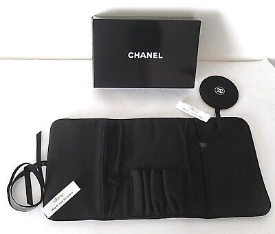 CHANEL Picture Makeup Brush Holder Travel Cosmetic Organizer Storage Situation Pouch